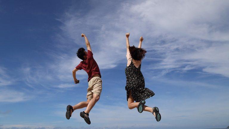 jump, sky, hooray