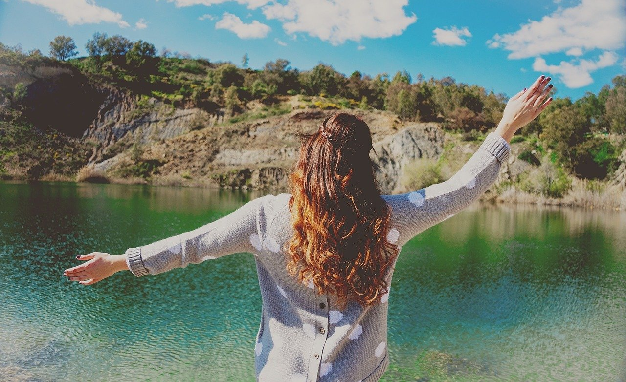 agua, mujer, naturaleza